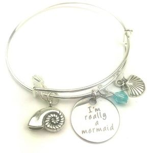 Jewelry - Mermaid bracelet silver fashion jewelry bangle